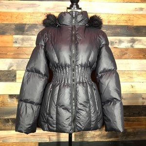 Laundry By Shelli Segal Black Down/Feather Coat